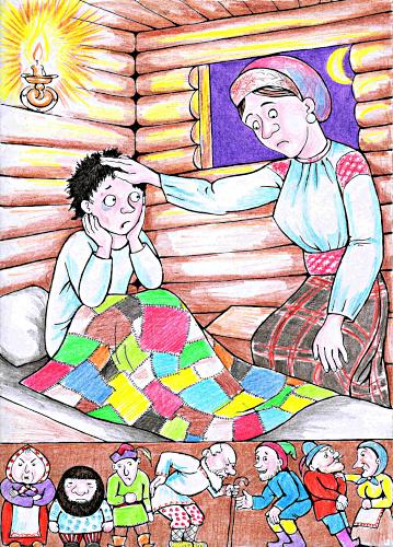 Иллюстрация из книги Светланы Багдериной «Непруха», рисунок Алексея Григорова «Непруха»