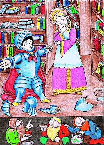 Иллюстрация из книги Светланы Багдериной «Пруха», рисунок Алексея Григорова «Пруха»